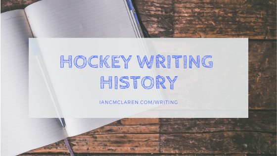 hockey writing history